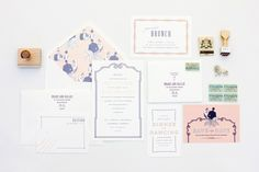 """Drake"" from Mae Mae Paperie's new wedding collection"