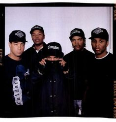 Fuck tha police! NWA, Easy E, DJ Yella, MC Ren, Ice Cube, and Dr. Dre!