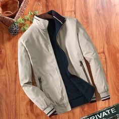 Double-sided Men's Fashion Jacket Thin Vintage Jacket Outfit For Guys *** Ships from the USA in Business days with USPS Express Mail ***Item Type:Outerwear & CoatsOuterwear Type:JacketsMaterial:Cotton,Polyester,RayonClothing Length:REGULARStyle:CasualC Casual Work Wear, Casual Wear For Men, Slim Fit Jackets, Mens Windbreaker, Cool Jackets, Jacket Style, Men's Jacket, Cotton Jacket, Vintage Jacket