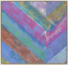 """Kenneth Noland Untitled, 1985. acrylic on canvas, 31-5/8"""" x 33-11/16"""" (80.3 cm x 85.6 cm)."""