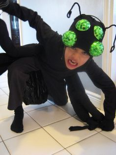 My son originally wanted to be a scorpion for the school musical but for fear & DIY Spider Costume | Pinterest | Spider costume Spider and Costumes