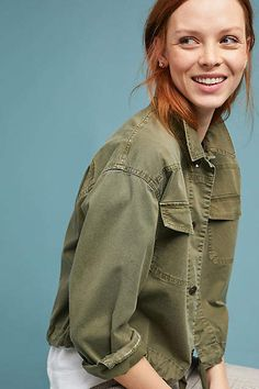 Ella Moss Embroidered Military Jacket