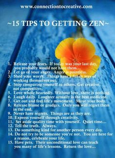 Finding inner peace & calm. (Mindfulness, relaxation & peace of mind). 15 tips to finding Zen.