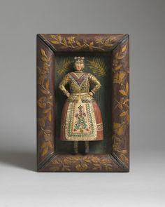 Folk Art Sculpture of a Dancing Lady  (From Robert Young Antiques)  #FolkArt