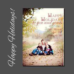 Christmas Card  Holiday Card  Printable by allisonpowelldesigns, $15.00