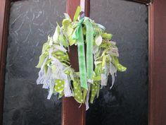 Spring Rag Wreath - Tea and a Sewing Machine