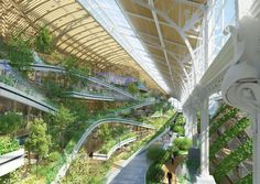 Tour & Taxis masterplan by Vincent Callebaut « Inhabitat – Green Design, Innovation, Architecture, Green Building Greenhouse Glass Panels, Dome Greenhouse, Green Architecture, Futuristic Architecture, Architecture Design, Architecture Collage, Residential Architecture, Contemporary Architecture, Ville Durable
