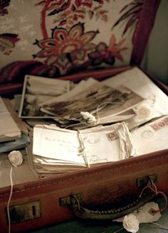 characters inspiration: hundreds of letters were written by claire and nate during the war in anchorage.