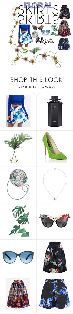 """""""Untitled #1307"""" by alla-chernets ❤ liked on Polyvore featuring Charlotte Russe, Gucci, NDI, Anna-Karin Karlsson, Girls On Film, under50 and skirtunder50"""