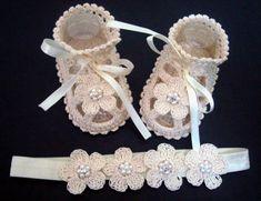 Cream Headband and Sandals