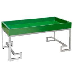 Worlds Away Conrad Greek Key Grass & Stainless Steel Tray Table #laylagrayce