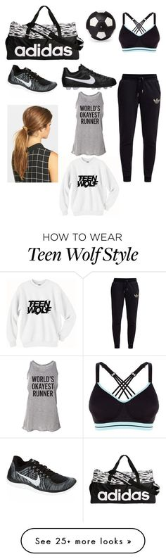 """Soccer prps tomorrow"" by haleyngarcia on Polyvore featuring adidas, NIKE, Ficcare, adidas Originals and Elisabeth Weinstock"