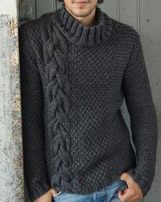 Para hombres Cuello De Tortuga SUÉTER Tejido a Mano XS, S, M, L, XL, XXL Lana Suéter de punto de mano 7   eBay