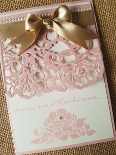 SU-Detailed Floral Thinlits. (Pin#1: Dies/Stamps: Stampin'Up. Pin+: Flowers: SU-3D/ Dies).
