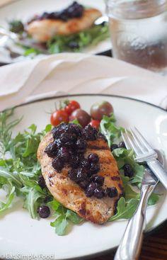 Chicken Blueberry Chutney - Eat Simple Food
