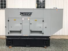 Winco Diesel Generator - In Stock and Ready to Ship - Available as 130 kW or 105 kW single phase - Quiet enclosure - 24 hr sub base fuel tank. Used Generators For Sale, Equipment For Sale, Diesel, Locker Storage, Ship, Collection, Safe Deposit Box, Ships