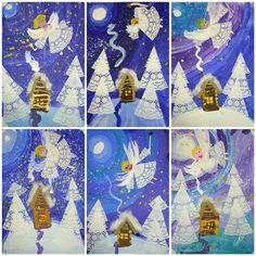 Чудесные аппликации из бумажных салфеток   OK.RU Christmas Art Projects, Christmas Arts And Crafts, Winter Art Projects, Christmas Crafts For Kids To Make, Christmas Activities, Christmas Decorations, Angel Crafts, Art Drawings For Kids, Preschool Art