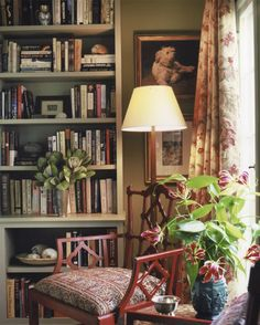 Home Decoration Plants Lots of things I love - colour greenery picture of a dog and of course books!Home Decoration Plants Lots of things I love - colour greenery picture of a dog and of course books! Estilo Country, Home Libraries, Cozy Corner, Bohemian Living, Country Decor, Country Life, Bookshelves, Bookshelf Styling, Living Spaces