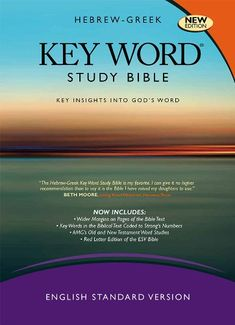 I'm ready for a new Bible...an ESV study Bible...this looks like a good one...  Hebrew-Greek Key Word Study Bible: ESV Edition, Hardbound (Key Word Study Bibles) by Dr. Warren Patrick Baker D.R.E.