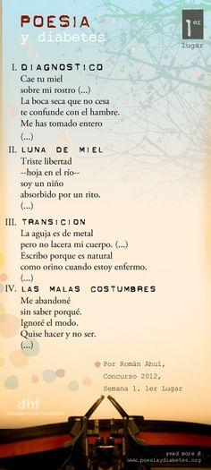 1er. Lugar de la 1era. Semana. Diagnóstico, por Román Ahuí.   http://www.estudiabetes.org/profiles/blogs/los-ganadores-del-concurso-de-poesia-2012-primera-semana