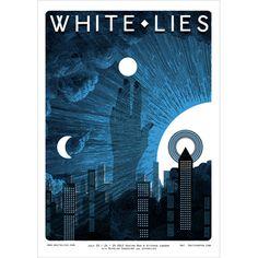 White Lies   White Lies Gig Poster