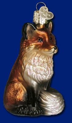 Fox, Glass Ornaments from Merck's Old World Christmas #glass #ornaments #Christmas
