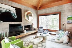 Step Inside a Surprisingly Glam Cinder-Block House in Aspen - Adventures in Interior Design - Curbed National Cinder Block House, Cinder Block Walls, Cinder Blocks, Cabin Design, House Design, Interior Decorating, Interior Design, Decorating Ideas, Interior Styling
