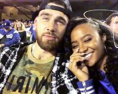 NFL player Travis Kelce Kayla Nicole at the World Series (Dodgers' Game) 2017. Check out more fab photos of this oh so cute couple on Kayla's Instagram. https://www.instagram.com/explore/tags/kaylanicole/