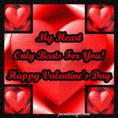 My Heart Only Beats For You Happy Valentines Day