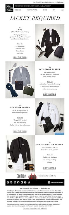 What's your blazer personality? #infographic #email from @saks