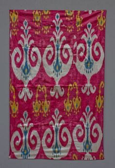 Uzbek Ikat Fragment -Grand Bazaar wares