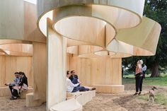 By commissioning a temporary summer pavilion by a leading architect every year…