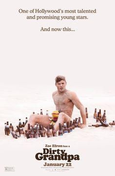 Dirty Grandpa Movie Poster - Zac Efron