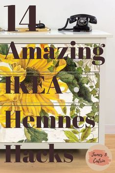The Ikea Hemnes is a great piece of furniture in itself, but you can turn it something that looks really expensive with an Ikea Hemnes hack. These Ikea Hemnes hacks should give you lots of inspiration to create your own designer piece of furniture. #ikeahemneshack #hemneshack #ikeahacks #ideas #jamesandcatrin