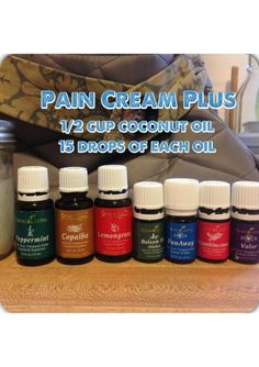 Young Living Essential Oils Pain Cream PLUS -- All of these are great oils for pain on their own.