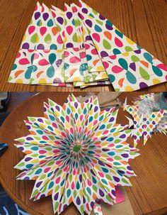 Easy Paper Bag Stars - iSaveA2Z.com