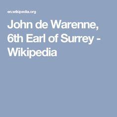 John de Warenne, 6th Earl of Surrey - Wikipedia