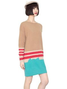 CATS BY TSUMORI CHISATO / LONG ANGORA STRIPED DRESS