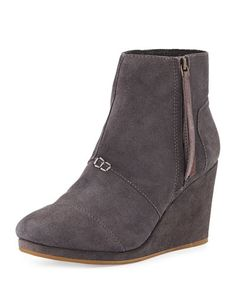 Toms High Wedge Dessert Boot In Grey NMF15_X2G2E