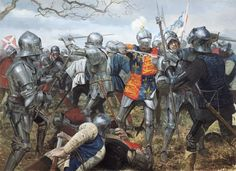 The Battle Of Wakefield 30th December 1460. Artwork by Graham Turner (c) Osprey Publishing