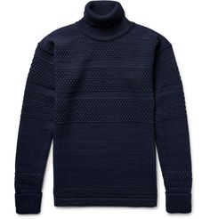<a href='http://www.mrporter.com/mens/Designers/SNS_Herning'>S.N.S. Herning</a>'s 'Fisherman' sweater was originally designed to withstand the harsh conditions of life at sea - it's made with a textured bobble-knit for unbeatable insulation. Equally suited for weekend wear, this rollneck style is crafted from a virgin and merino wool-blend that will keep you warm without feeling too bulky. Team it with cuffed chinos and bo...
