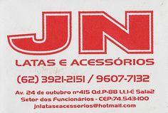 Eu recomendo JN Latas e Acessórios- Setor dos Funcionários, #Goiânia, #Goiás, #Brasil