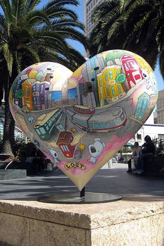 One of the 'Hearts in San Francisco' painted by various artists in 2004 for a hospital.