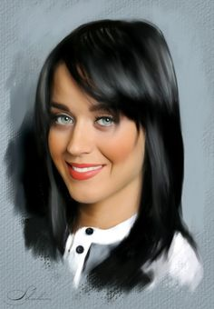 Portrait of Katy Perry by shahin on Stars Portraits Celebrity Drawings, Celebrity Portraits, Music Artwork, Art Music, Pencil Portrait, Portrait Art, Katy Perry, Watercolor Portrait Tutorial, Digital Art Girl