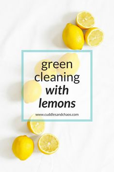 DIY green cleaning with lemons