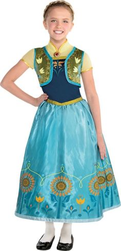 Girls Anna Costume Supreme - Frozen Fever - Party City