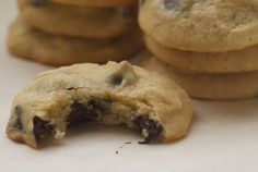 Cream Cheese Choc Chip Cookies - some of the butter is replaced with cream cheese. I just may have to try these!