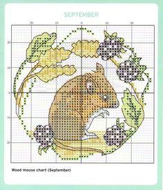 September Cross Stitch Chart