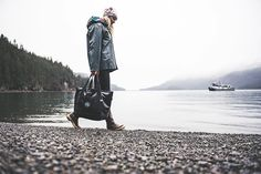 Our products walk the line between form and function - cute yet practical beautiful yet tough - because Alaska always puts them to the test.  The Boat Bag was made with the help of some Alaskans who know about wind and water and the way our home is wild. Sewn in Homer by @nomar_alaska the Boat Bag is waterproof and sturdy and ready for your next adventure outside. @Scottdickerson  #aksalmonsisters #boatbag #wildalaska #madeinalaska #nomaralaska #weather #water #wild #waves