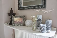 Smilla's sense of living: DIY: concrete candle holder / candle holder made of cement
